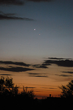 Conjunction of Venus and Mercury January 10, 2015